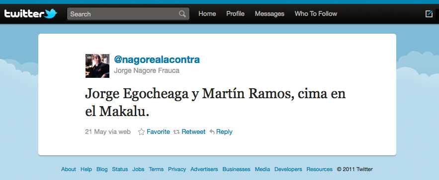Twitter Jorge Nagore